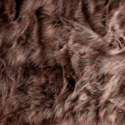 Shannon Fly Feather Faux Fur Grey/Coral