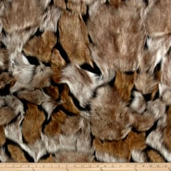 Shannon Wolverine Faux Fur Taupe/Black Fabric