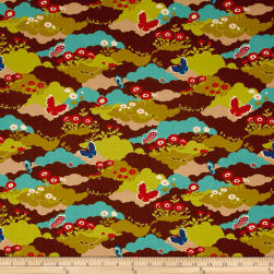 Moda Lucky Day Butterfly Field Cocoa Fabric