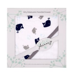 Shannon Johanna Jo Tiny Treasures Hooded Towel Whales