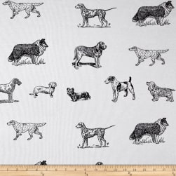 Fabric Merchants Pajama Rib Knit Dogs & Puppies