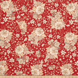 Art Gallery Soulful Floral Universe Auburn Fabric