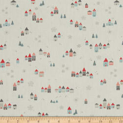 Art Gallery Little Town Snowdrift Joy Fabric