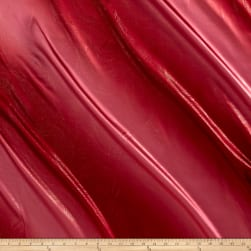 Charmeuse Satin Metallic 2-Tone Red Fabric