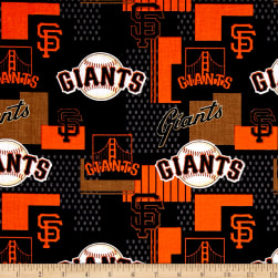 MLB Cotton Broadcloth San Francisco Giants Orange/Black Fabric