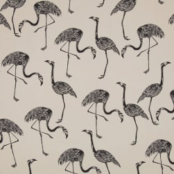 Telio Monet Rayon Sateen Flamingos Beige/Black