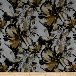 Telio Dakota Jersey Knit Floral Yellow Fabric