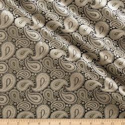 Telio Intrepid Jacquard Paisley Black/Yellow Fabric