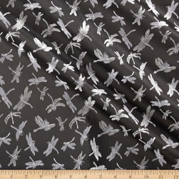 Telio Talisa Jacquard Dragonfly Black/White Fabric