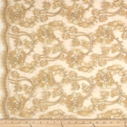 Starlight Mesh Lace Rosedale Antique Fabric