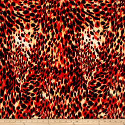 ITY Jersey Knit Cheetah Print Red/Black Fabric
