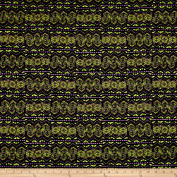 ITY Jersey Knit Geometric Purple/Green/Black Fabric