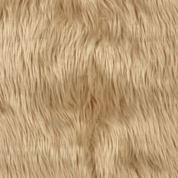 Shannon Luxury Shag Faux Fur Latte Fabric