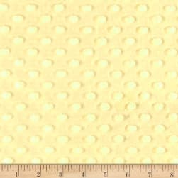 Shannon Minky Cuddle Dimple Yellow Fabric