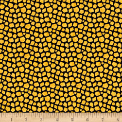 Stone Age Animal Skin Gold Fabric