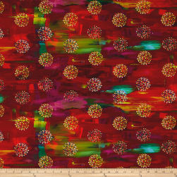 True Nature Digital Dots Red Fabric