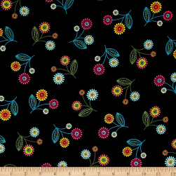 Stella Toss Flower Black