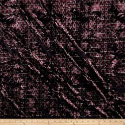 Telio Velvet Burnout Triangles Stretch Purple Fabric