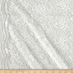 Telio Luella Embroidery Lace White Fabric