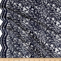 Telio Luella Embroidered Lace Navy Fabric