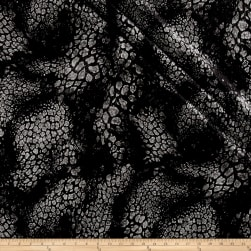 Telio Foiled Knit Dimensional Black/Silver Fabric