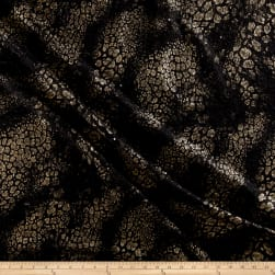 Telio Foiled Knit Dimensional Black/Gold