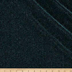 Telio Stretch Nylon Knit Metallic Diamond Teal/Black Fabric