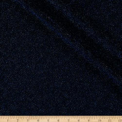Telio Stretch Nylon Knit Metallic Diamond Blue/Black Fabric
