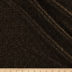 Telio Stretch Nylon Knit Metallic Diamond Gold/Black Fabric