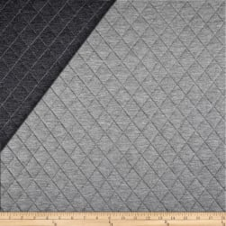 Telio Loft Pre-Quilted Reversible Knit Grey/Dark Grey Fabric