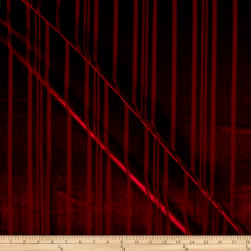 Telio Panne Stretch Velvet Stripe Red Fabric