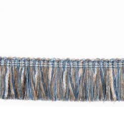 "Fabricut 2.125"" Banni Brush Fringe Horizon"