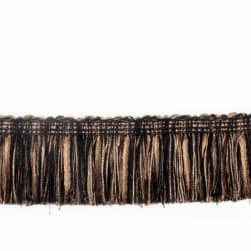 "Fabricut 2.125"" Banni Brush Fringe Pepper"
