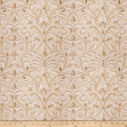 Fabricut Basinger Leaves Silk Natural Gold Fabric