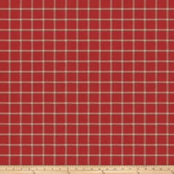 Fabricut Campaign Plaid Jacquard Vermillion Fabric