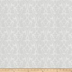 Fabricut Elegy Damask Faux Silk White Fabric