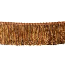 "Fabricut 2.5"" Festoon Brush Fringe Clay"