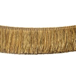 "Fabricut 2.5"" Festoon Brush Fringe Bamboo"