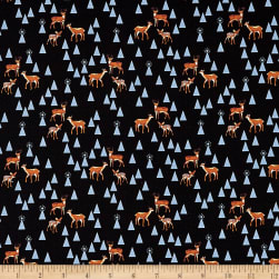Tula Pink Holiday Homies Bambi Life Blue Fabric