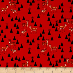 Tula Pink Holiday Homies Bambi Life Holly Fabric
