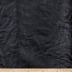 Fabricut Iron Faux Leather Ebony Fabric