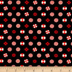 Tula Pink Holiday Homies Peppermint Stars Ink Fabric
