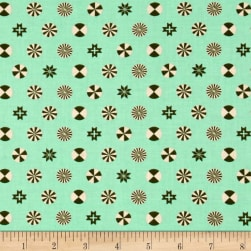 Tula Pink Holiday Homies Peppermint Stars Pine Fabric