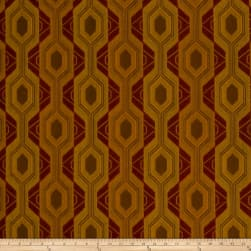 Fabricut Luxor Jacquard Earth Red Fabric