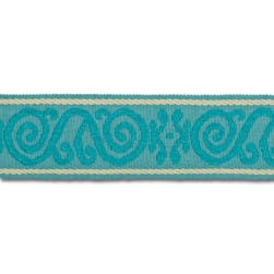 "Mount Vernon 2"" Ornament Trim Aqua"