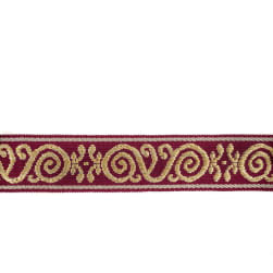 Mount Vernon 2'' Ornament Trim Garnet