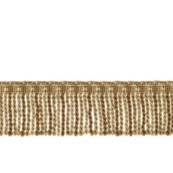"Fabricut 2.5"" Porch Swing Bullion Fringe Nutria"