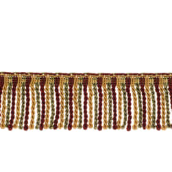 "Fabricut 2.5"" Porch Swing Bullion Fringe Vineyard"