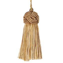 "Fabricut 8"" Tantalize Cushion Tassel Bronze"