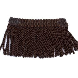 "Fabricut 2.25"" Tenango Bullion Fringe Coffee"